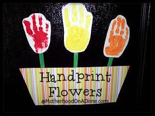 Mother's Day Handprint Flower Gift Idea