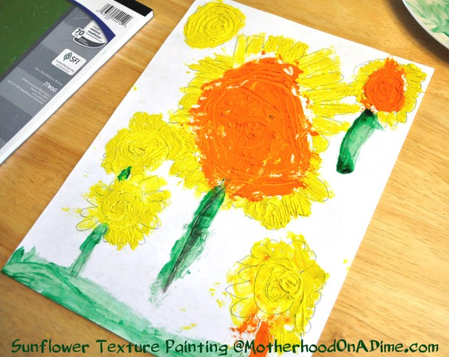 sunflower art for kids, van gogh