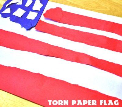 Torn Paper Flag Craft