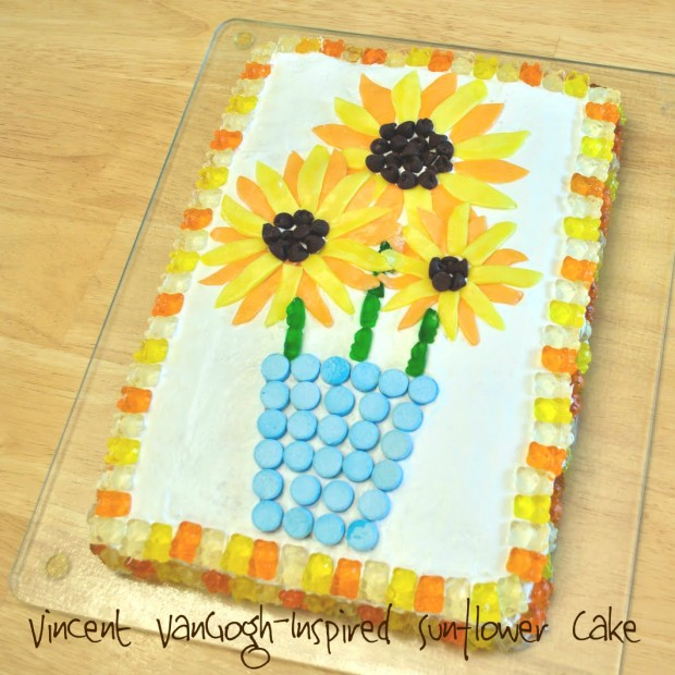 Tasty Tuesday Vincent Van Gogh Inspired Sunflower Cake