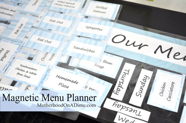 How to Make a Magnetic Menu Planner