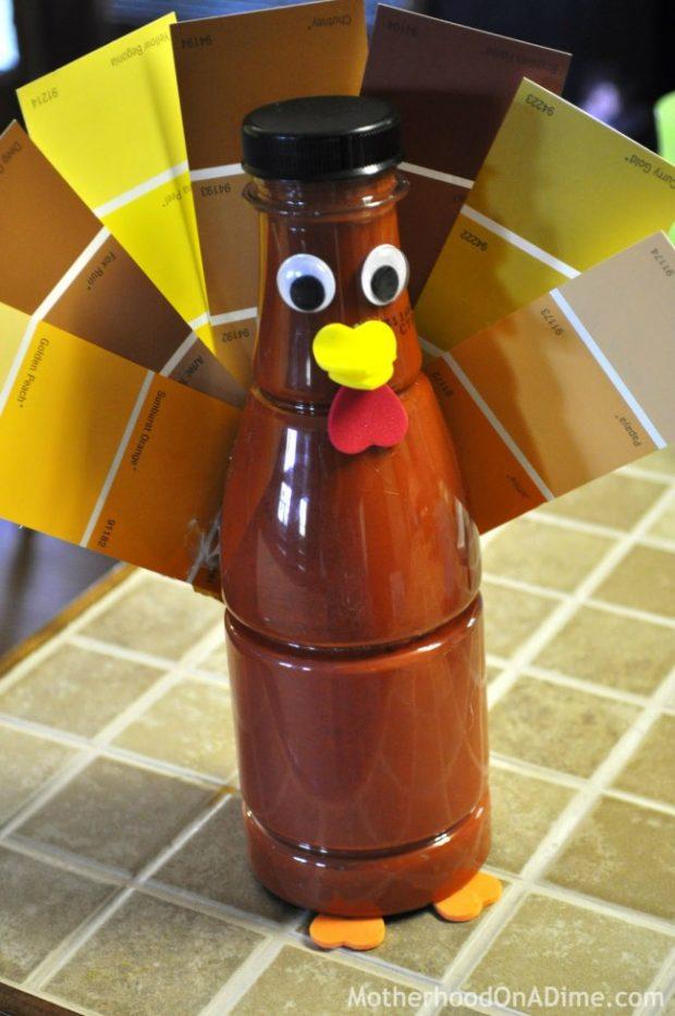 Paint Sample Turkey Craft Kids Activities Saving Money Home