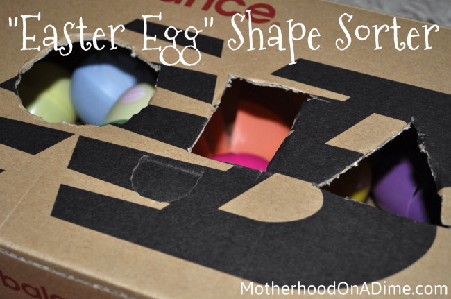 Babies and Toddlers: Egg Shape Sorter Box