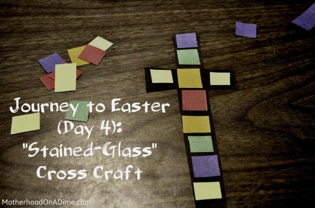 stained-glass cross craft