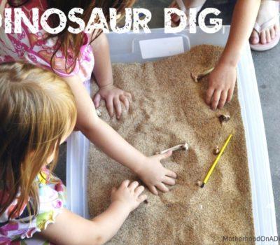 """Dinosaur"" Excavation for Kids"