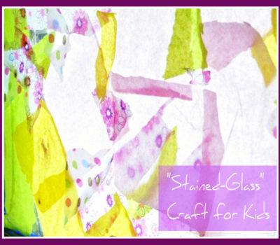 "Fun on a Dime:  ""Stained-Glass"" Window"
