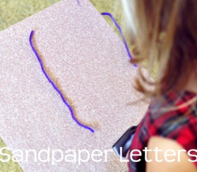 Preschool Basics: Yarn (& Sand Paper) Letter Practice