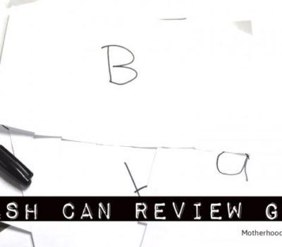 Preschool Basics: Trash Can Alphabet Review
