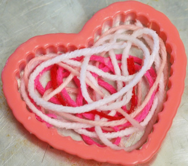 Valentine's Day:  String Hearts (Messy Craft!!)