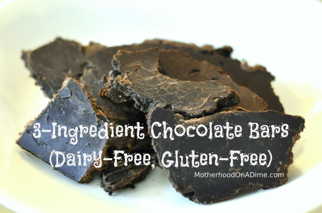 Make Your Own:  Chocolate Bars or Chocolate Chips (3 Ingredients!!)
