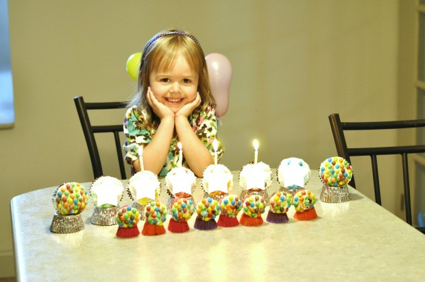 gumball machine cupcakes, gumball birthday cake