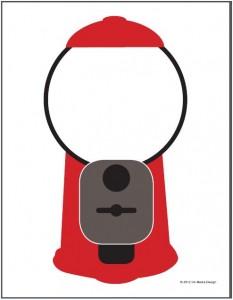 Gumball Machine Printable Theme Activity Idea