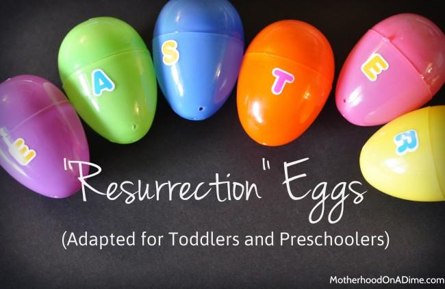 Preschool Easter Story Eggs and Poem