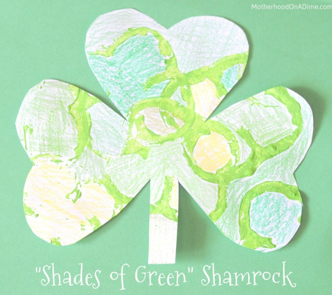 """Shades of Green"" Shamrock (Pepper Printing, Too!)"