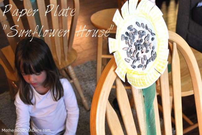 Paper Plate Sunflower House