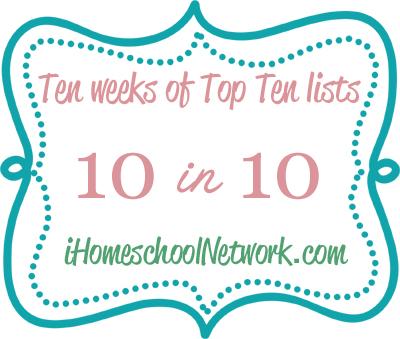 10 in 10 ten weeks of top ten lists
