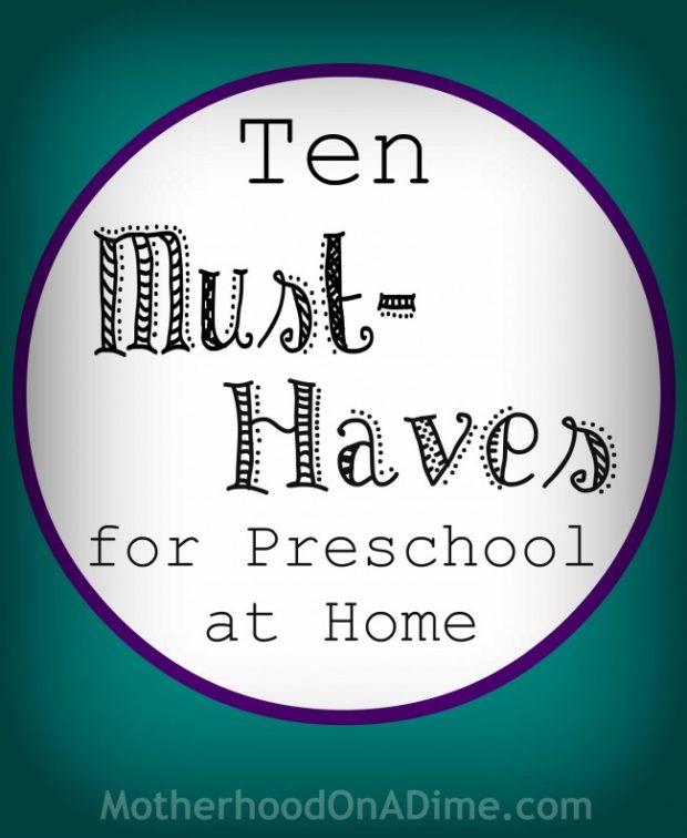 Preschool at Home Essentials