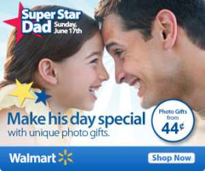 Last-Minute Father's Day Idea: Photo Gifts from Walmart + 25