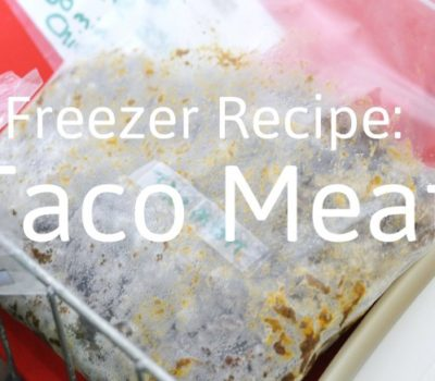 Freezer Recipes:  Preservative-Free Taco Meat
