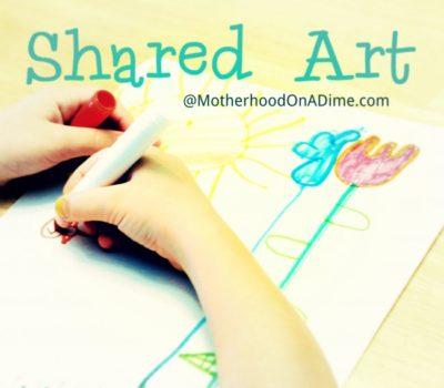 Shared Art:  A Cooperative Art Activity for Kids