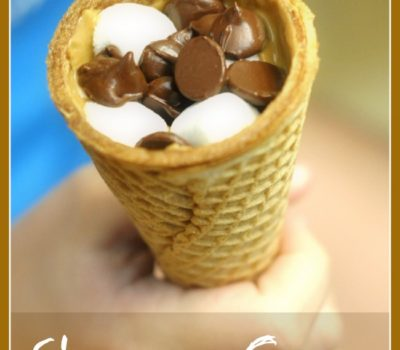 S'mores Cone (Oven Variation of Campfire Cones)