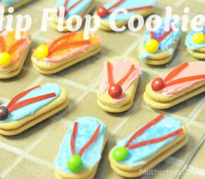 Cooking with Kids:  Flip Flop Cookies