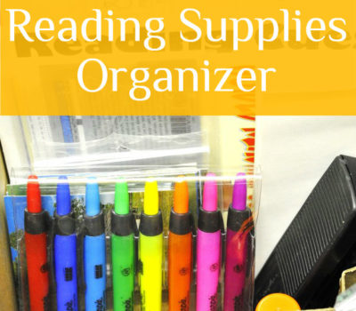 Reading Supply Organizer