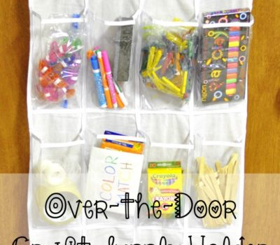 Over-the-Door Craft Supply Holder