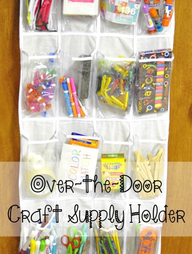 Over The Door Craft Supply Holder Kids Activities Saving Money