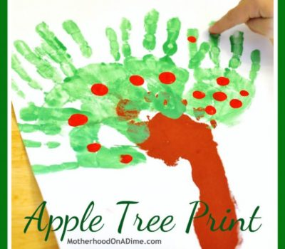 Handprint, Footprint, and Fingerprint Apple Tree Craft