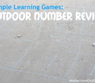 Outdoor Number Review Game