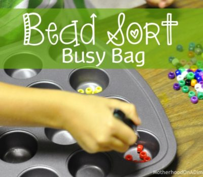 Bead Sort Busy Bag
