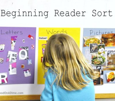 Pre-Reader (and Beginning Reader) Sort