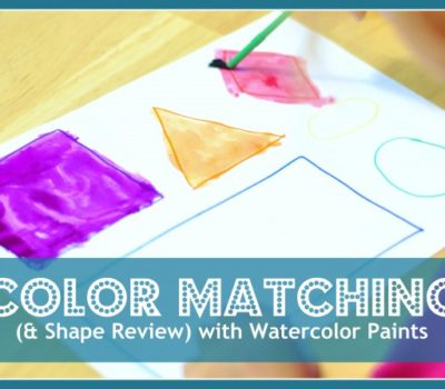 Color Matching (and Shape Review) with Watercolor Paints
