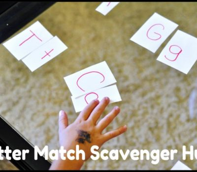 Letter Match Scavenger Hunt