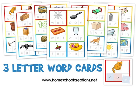 3 letter o words educational freebie 3 letter word cards activities 20069