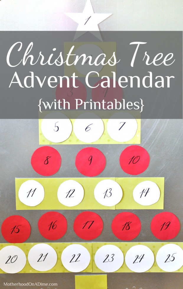 christmas tree printable advent calendar