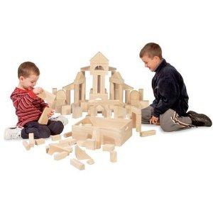Hot!!  Melissa & Doug 60-Piece Wooden Blocks for $34.99