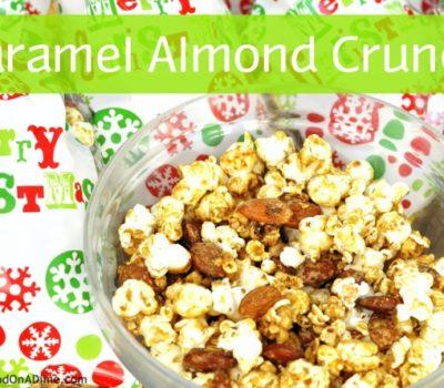 Caramel Almond Crunch Popcorn (Gluten-Free, Dairy-Free)