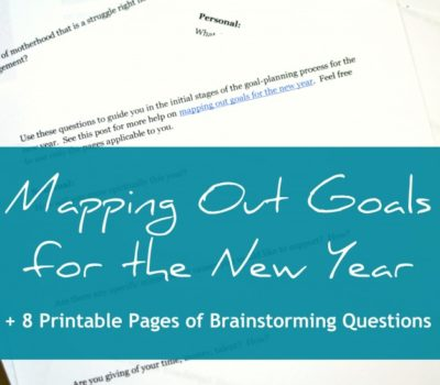 No Resolutions!  Mapping Out Goals for the New Year + Printable Brainstorming Questions