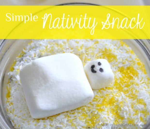 simple nativity snack for preschool