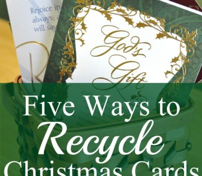 Five Ways to Recycle Christmas Cards