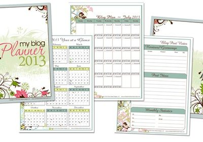 Four FREE Printable Blogging Planners