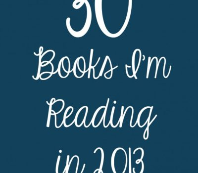 30 Books I'm Reading in 2013