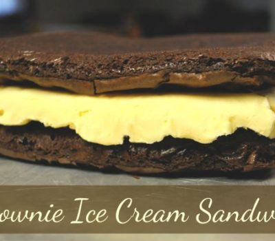 Shadow Snack — Homemade Brownie Ice Cream Sandwiches