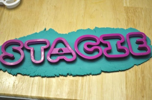 play dough name puzzle