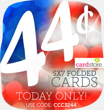 President's Day Sale: 44¢ Folded Cards from Cardstore