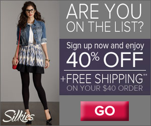 Save 40% Plus FREE Shipping from Silkies