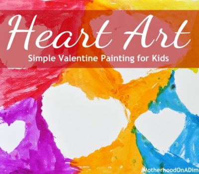 Valentine's Day Craft for Kids:  Simple Heart Art Painting