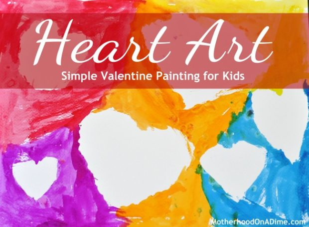 heart art craft for kids